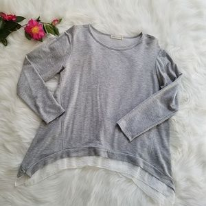 Anthropologie Pebble and Stone Gray Layered Tunic